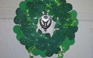 shamrock door wreath, crafts, seasonal holiday decor, wreaths