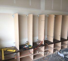Diy Garage Mudroom Lockers With Lots Of Storage Garageorganization, Diy,  Foyer, Shelving Ideas
