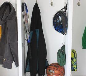 diy garage mudroom lockers with lots of storage diy foyer shelving ideas