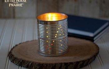 tin can lantern diy inspired by laura ingalls wilder, crafts, repurposing upcycling