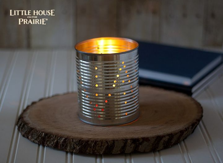 tin can lantern diy inspired by laura ingalls wilder, crafts, repurposing upcycling