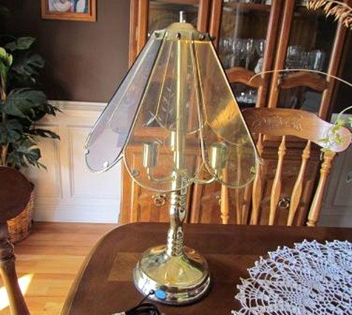 Make a faux tiffany lamp from a thrift store find hometalk make a faux tiffany lamp from a thrift store find crafts lighting aloadofball Image collections