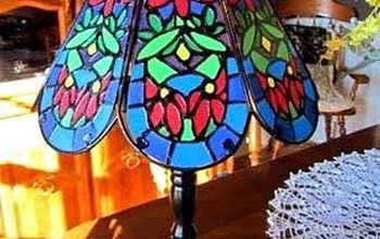 Make a Faux Tiffany Lamp From a Thrift Store Find!