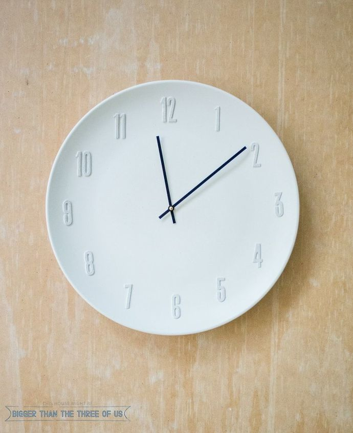 west elm inspired clock, crafts, repurposing upcycling, wall decor