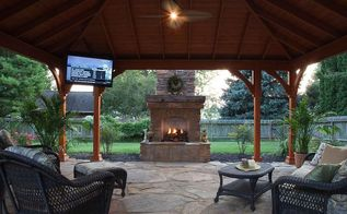 popular upgrades to your outdoor living space, fireplaces mantels, lighting, outdoor furniture, outdoor living, ponds water features