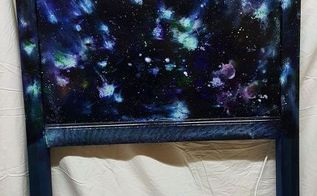 headboard boring to wow outta this world dyi galaxy night light, bedroom ideas, home decor, woodworking projects