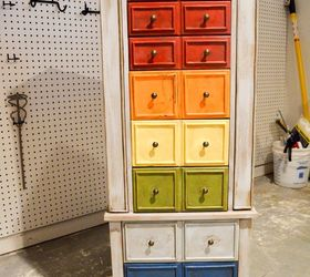 Rustic Rainbow Jewelry Chest, Chalk Paint, Painted Furniture