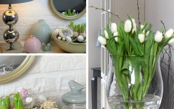 super easy spring easter decor ideas, easter decorations, flowers, home decor, seasonal holiday decor