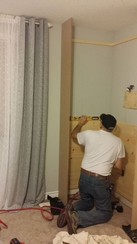 built ins for our bedroom, bedroom ideas, diy, shelving ideas, The beginnings of the project