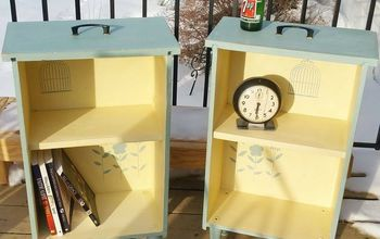 Upcycled Drawers to Side Tables