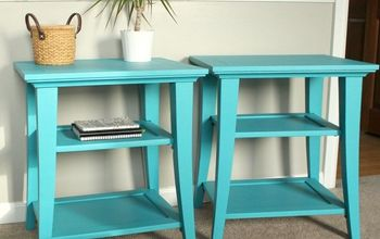 make a statement end table refresh, chalk paint, painted furniture