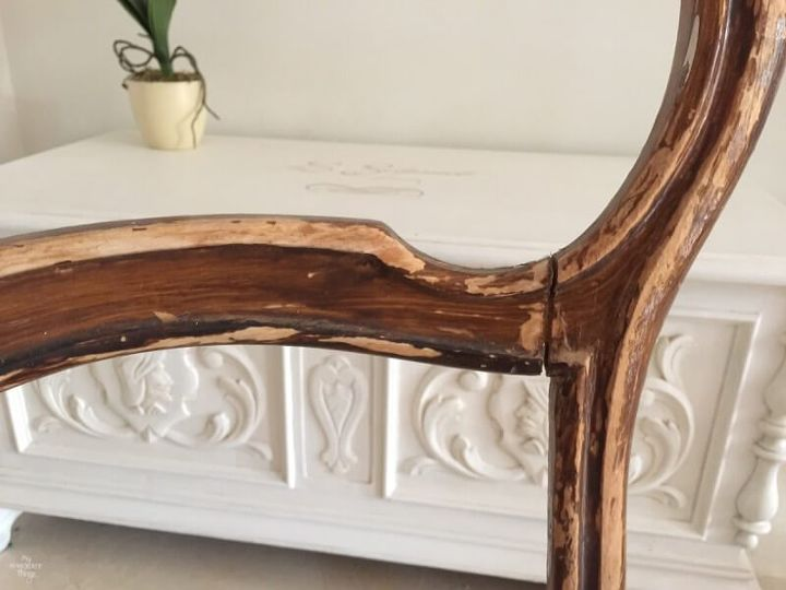 make a statement the elizabethan chair makeover, how to, painted furniture, reupholster