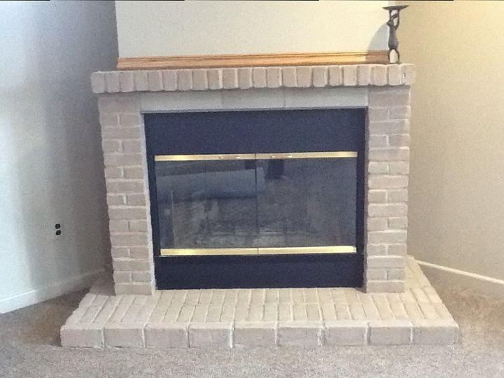 white wash fireplace brick, concrete masonry, fireplaces mantels, painting, After