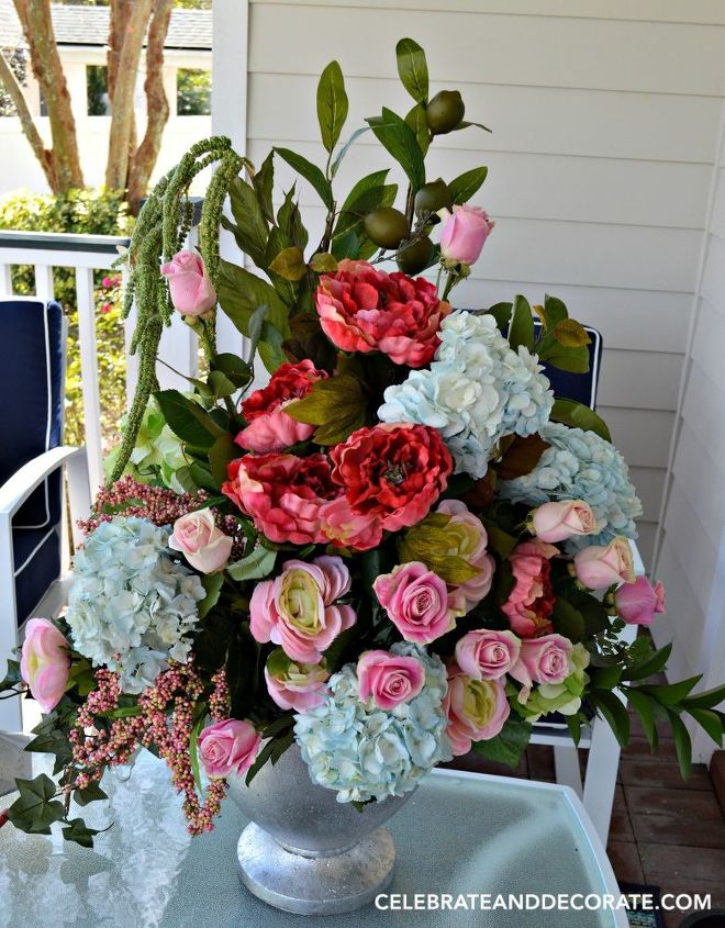 why add artificial flowers to a fresh flower arrangement, crafts, flowers, gardening