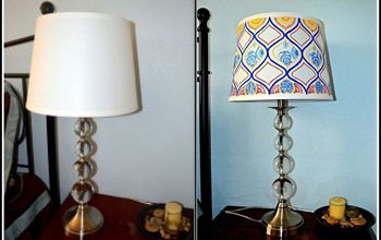 hand painted lampshade, crafts