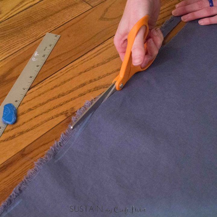 diy linen frayed edge napkins and nautical cable napkin rings, crafts, reupholster