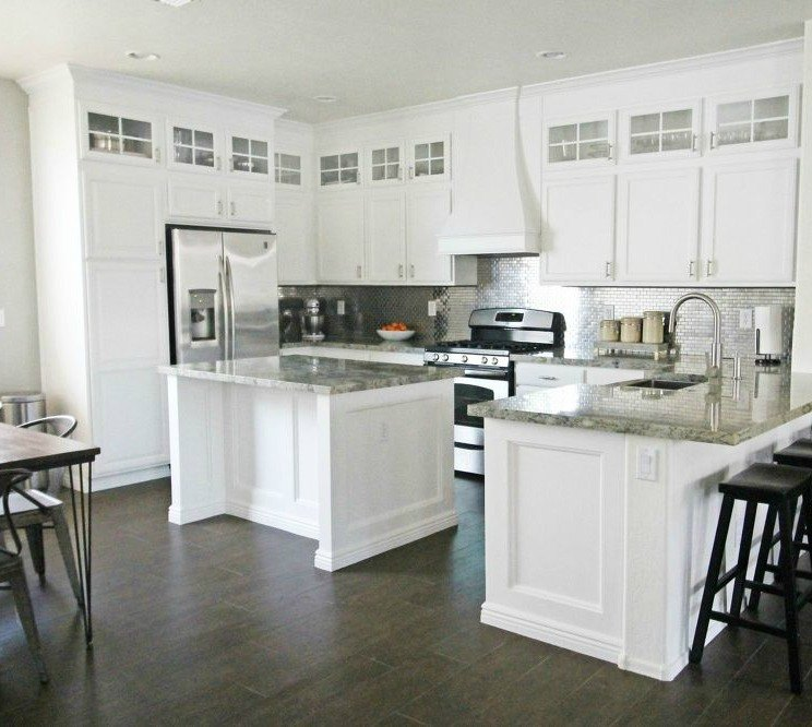 Interior Transform Kitchen Cabinets 14 easiest ways to totally transform your kitchen cabinets hometalk add a row of open top space