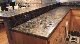 I Used The Black Granite Package So It Would Match My Stainless Steel Liances