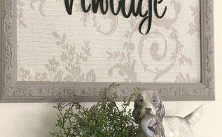 a thrift shop frame makeover with old sign stencils, crafts, repurposing upcycling, wall decor