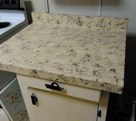 refinished countertop using kilz latex and craft paints and 8 coats of polyacrylic
