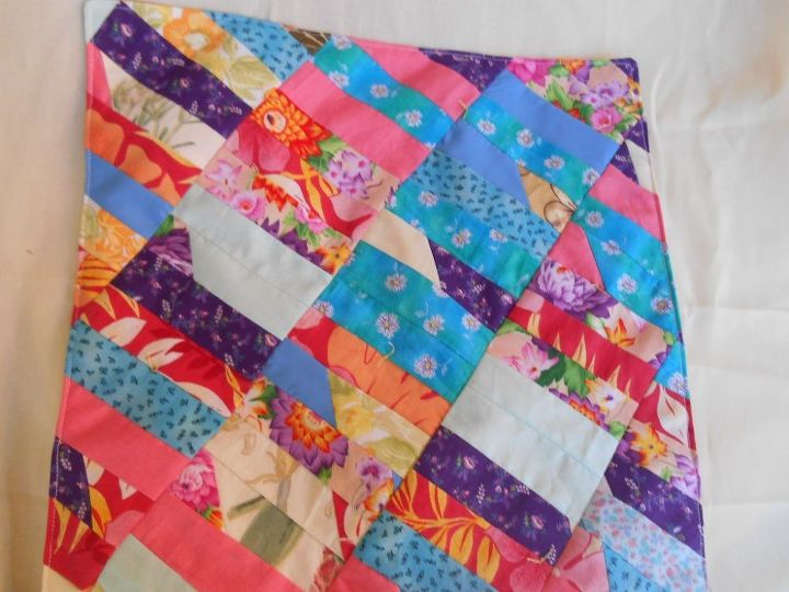 spring flower quilt, crafts, repurposing upcycling, reupholster