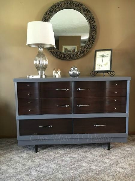 mid century modern revision, painted furniture