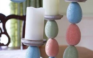 easter egg candle holders, crafts, diy, easter decorations, how to, seasonal holiday decor