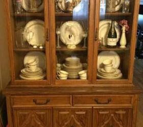 Two Makeovers From One China Cabinet - Vintage Blue Buffet | Hometalk