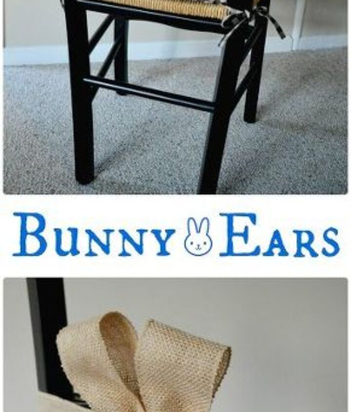 bunny ears for chairs, crafts, easter decorations, seasonal holiday decor