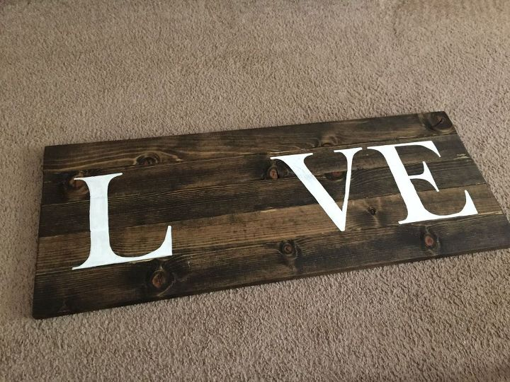 diy string art love wall sign, crafts, wall decor