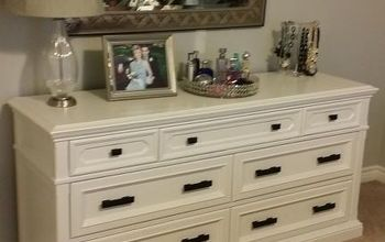 giving a thrift store dresser a new look, painted furniture
