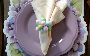 easter eggs flower napkin rings, crafts, easter decorations, how to, seasonal holiday decor