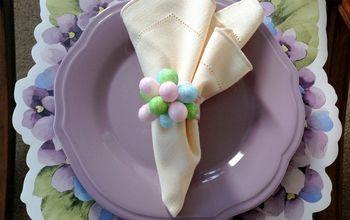 Easter Eggs Flower Napkin Rings