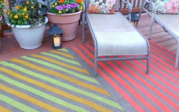 s 13 expensive looking outdoor rug ideas that cost less than 20, flooring, outdoor living, reupholster