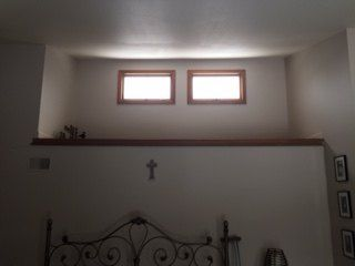 q strang loft above our bed what can i do with it, home decor, home decor dilemma