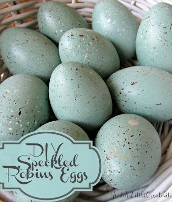 diy wood speckled robins eggs, easter decorations, seasonal holiday decor