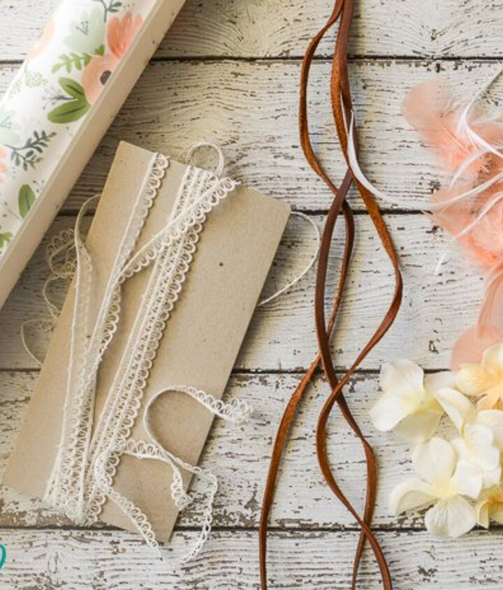 boho style gift wrapping tutorial, crafts