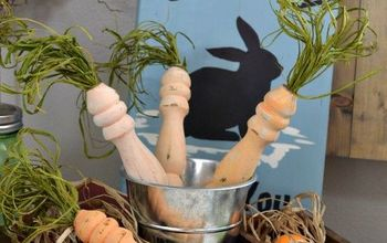Upcycled Spindle Carrots For Easter