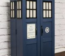 tardis boockcase media storage tutorial, decoupage, how to, painted furniture, storage ideas