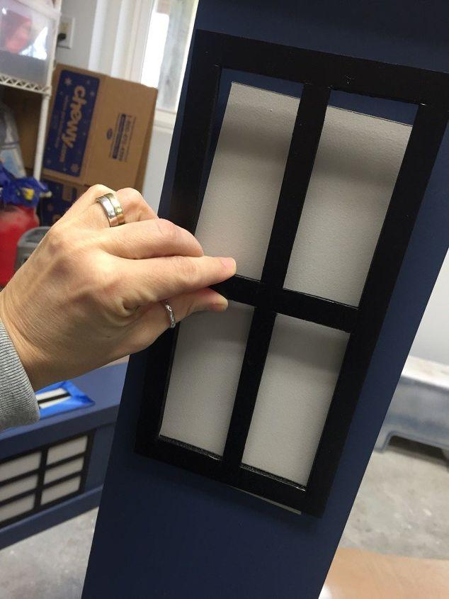 tardis boockcase media storage tutorial, decoupage, how to, painted furniture, storage ideas