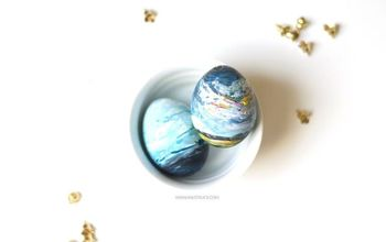 diy abstract art easter egg, crafts, easter decorations, how to, seasonal holiday decor