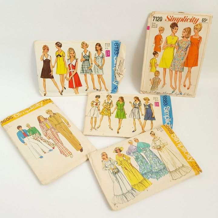 Vintage Sewing Pattern Wall Art   Hometalk