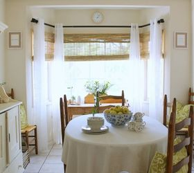 Bay Window Makeover With Bamboo Shades, Dining Room Ideas, Diy, Home Decor,