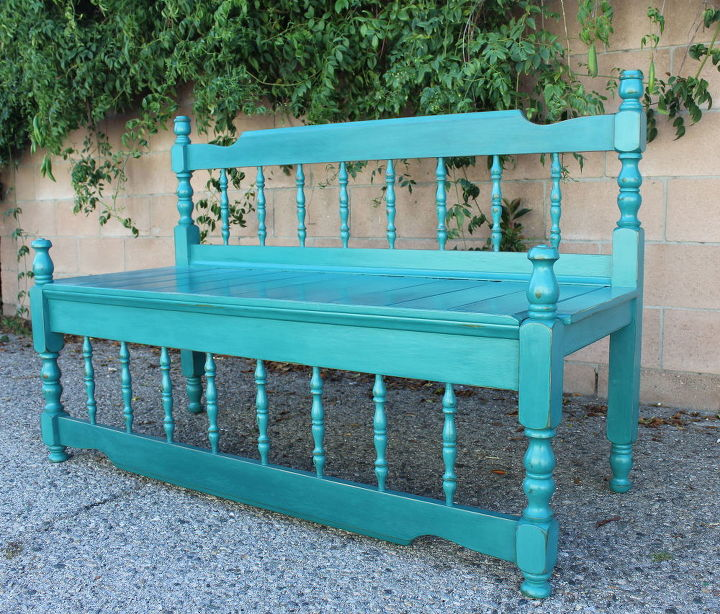 Awesome Upcycled Antique Bed Frame Bench Hometalk Dailytribune Chair Design For Home Dailytribuneorg