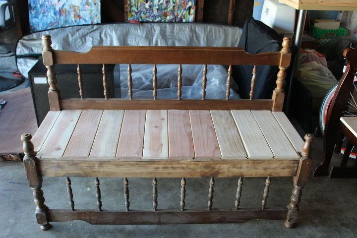 Fabulous Upcycled Antique Bed Frame Bench Hometalk Dailytribune Chair Design For Home Dailytribuneorg