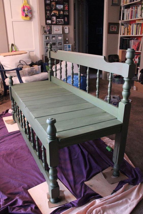 Remarkable Upcycled Antique Bed Frame Bench Hometalk Dailytribune Chair Design For Home Dailytribuneorg