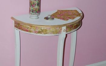 spring bling a cherry blossom table makeover, decoupage, painted furniture