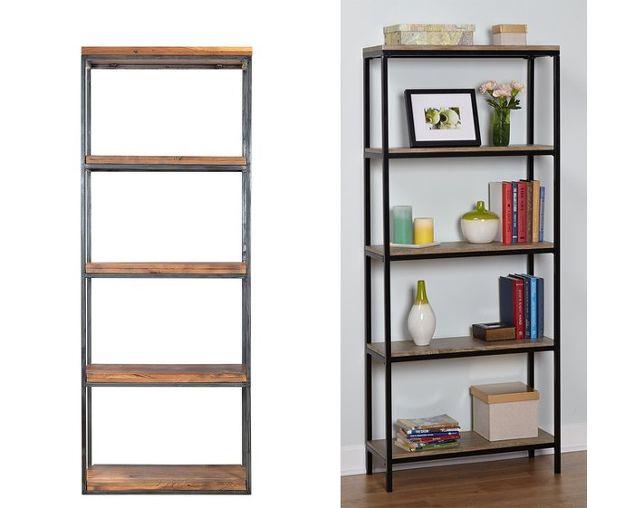 Ikea Hack Wood And Metal Bookshelf Painted Furniture Left Dot Bo 1 534 Right