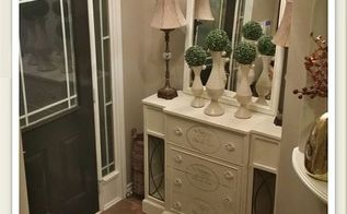revamping an old goodwill hutch with homemade chalk paint, chalk paint, painted furniture