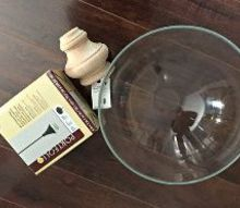diy glass pendant light knockoff project, diy, how to, kitchen design, lighting